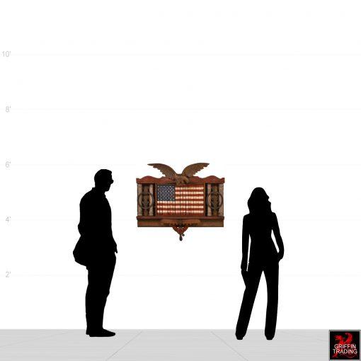 American flag art assemblage