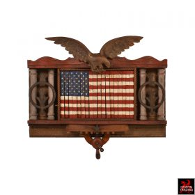 American flag art assemblage