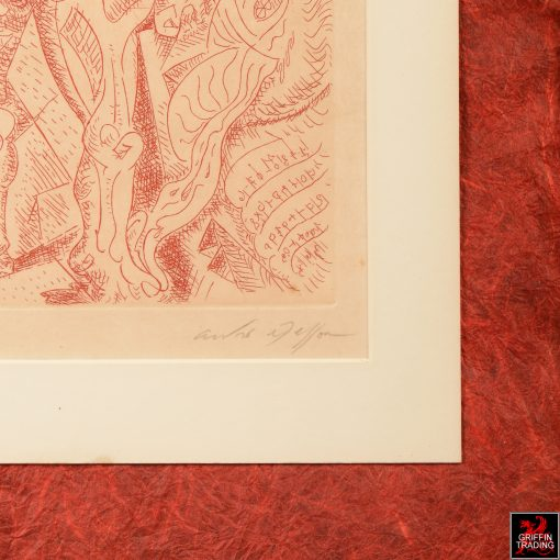 Le Septieme Chant Engraving by Andre Masson
