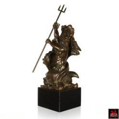 Poseidon Triton Bronze Sculpture